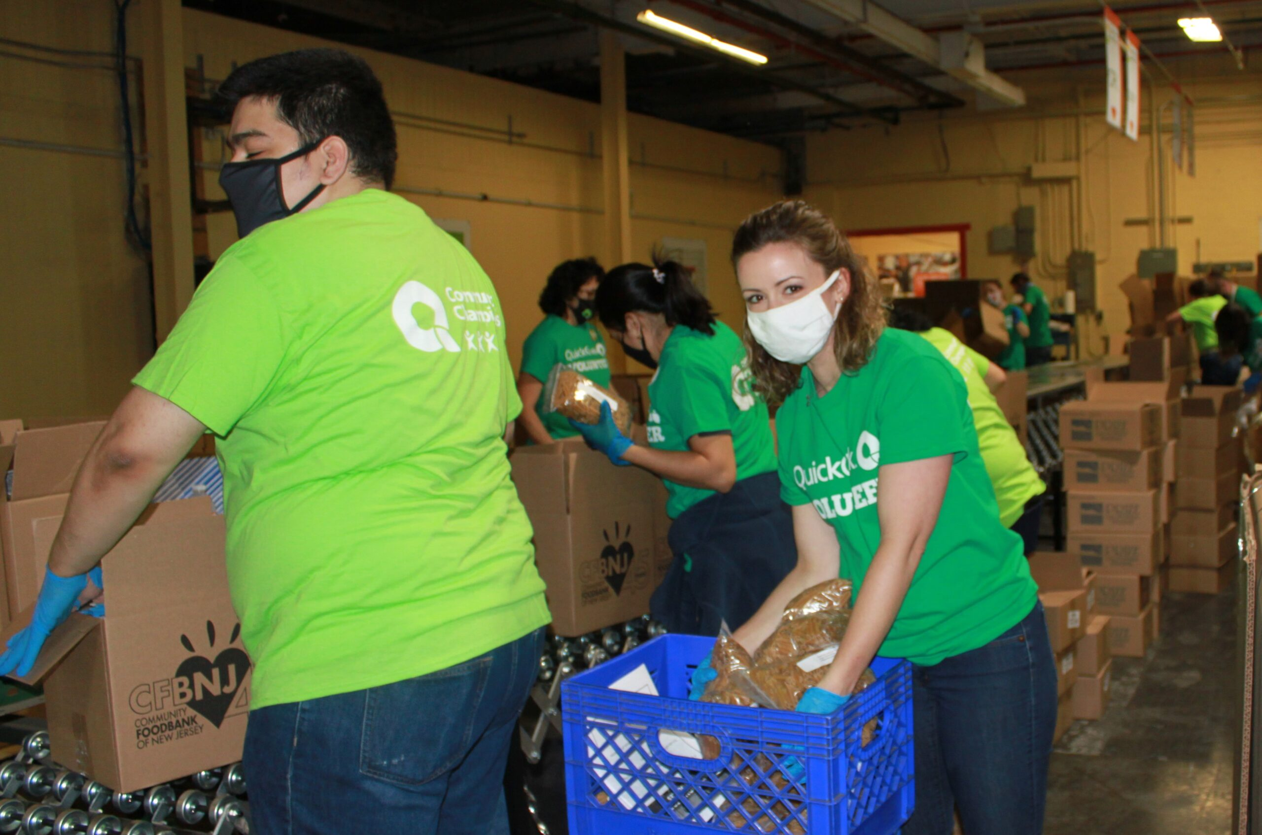 QuickChek COVID foodbank volunteers help feed hungry families
